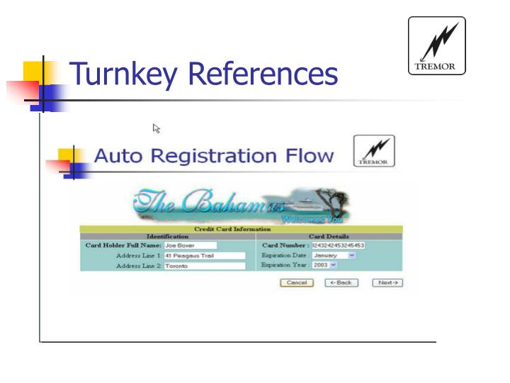 Turnkey References