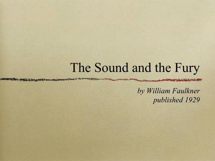the sound and the fury free download
