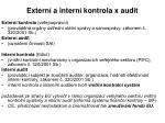 extern a intern kontrola x audit