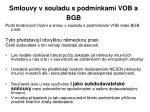 smlouvy v souladu s podm nkami vob a bgb