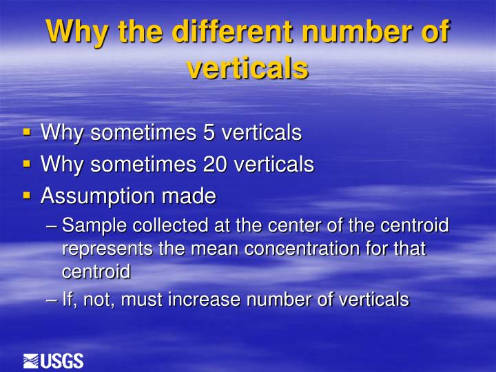 Why the different number of verticals