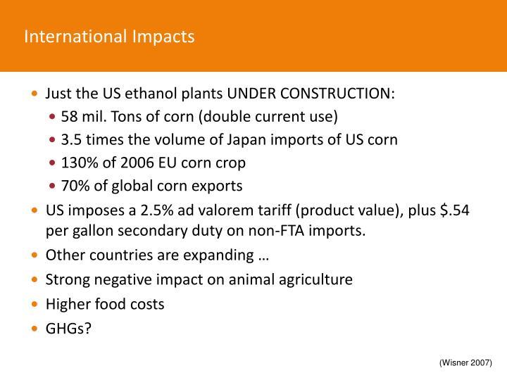 International Impacts