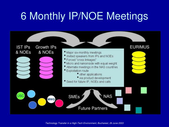 6 Monthly IP/NOE Meetings