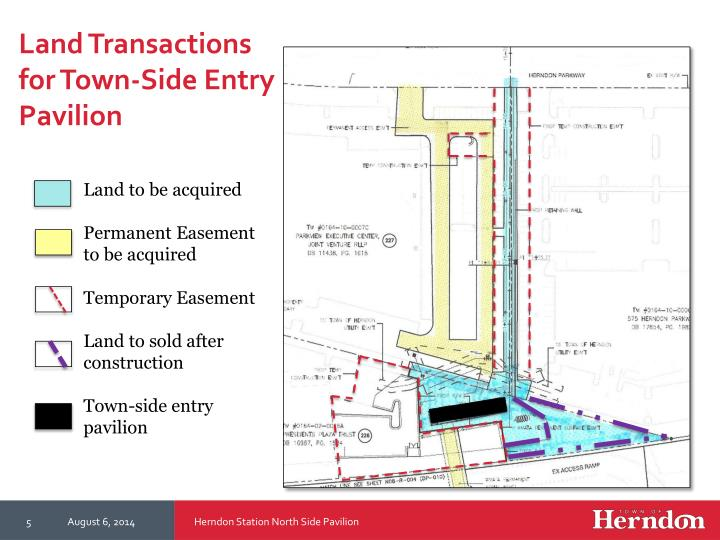 Land Transactions for Town-Side Entry Pavilion