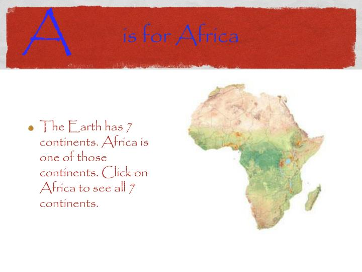 Is for africa