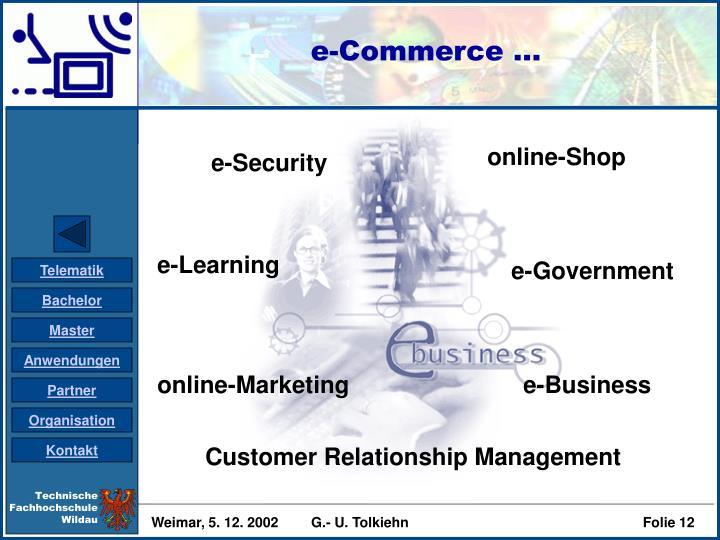 e-Commerce ...