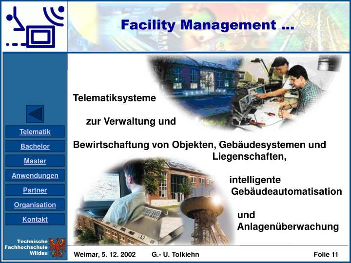 Facility Management ...