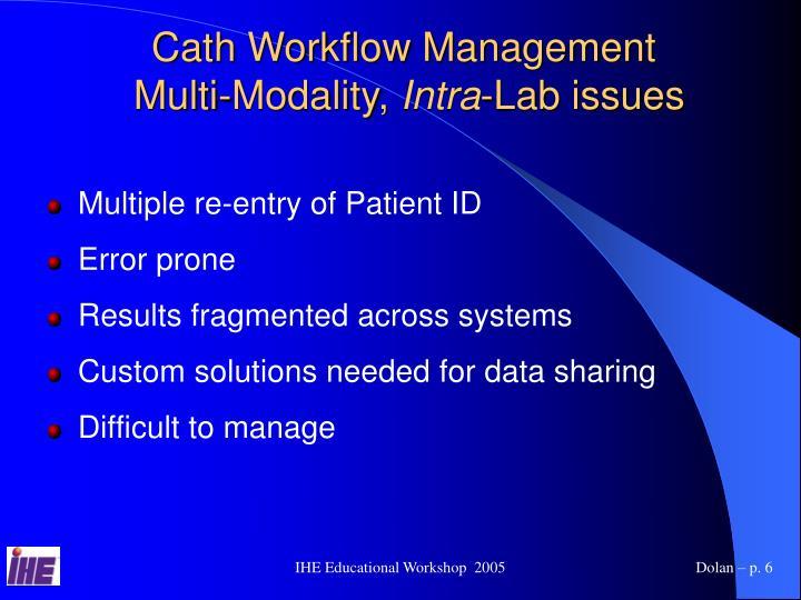 Cath Workflow Management