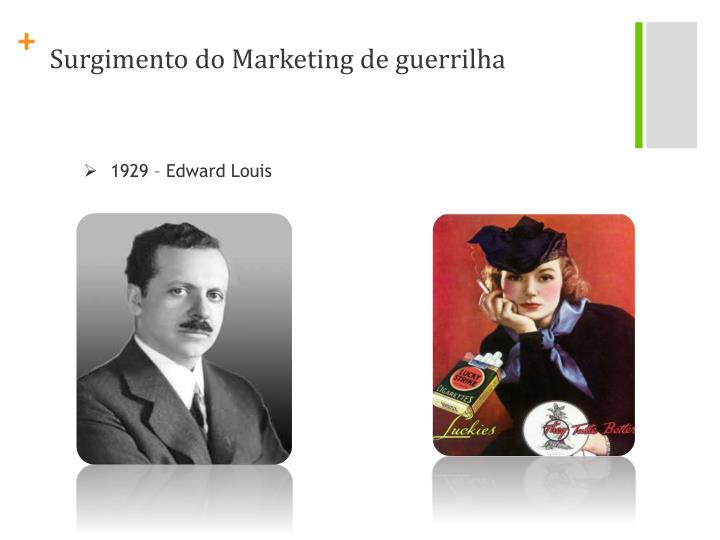 Surgimento do Marketing de guerrilha