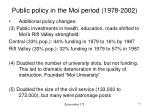 public policy in the moi period 1978 20023