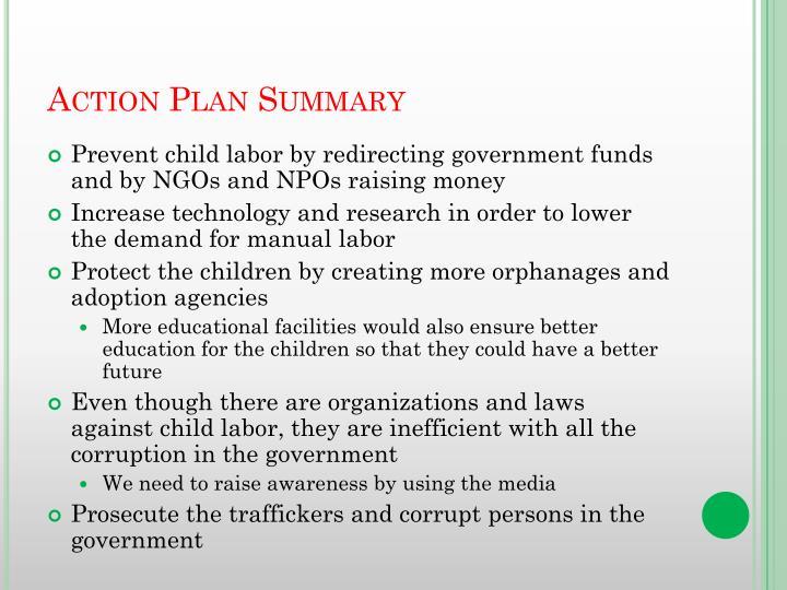 Action Plan Summary