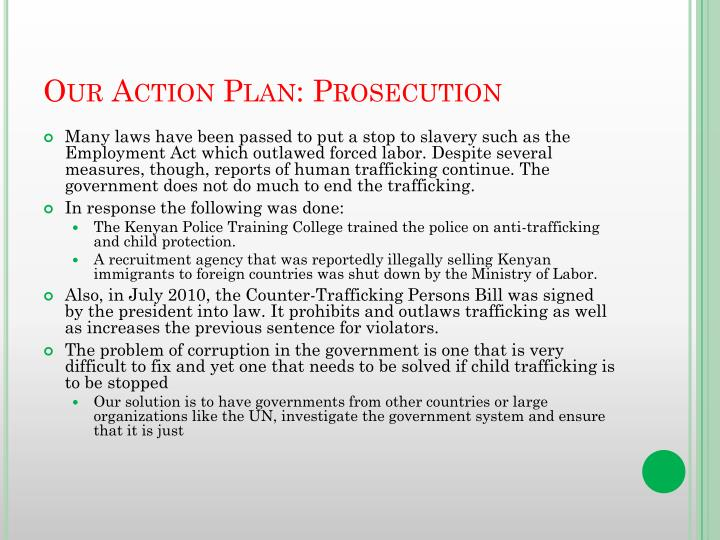 Our Action Plan: Prosecution