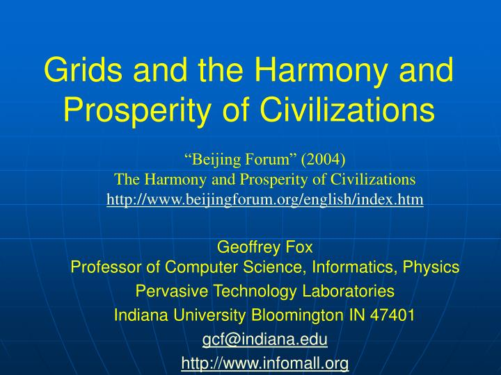 grids and the harmony and prosperity of civilizations n.