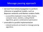 message passing approach