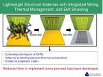 lightweight structural materials with integrated wiring thermal management and emi shielding
