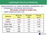 lightweight structural materials1