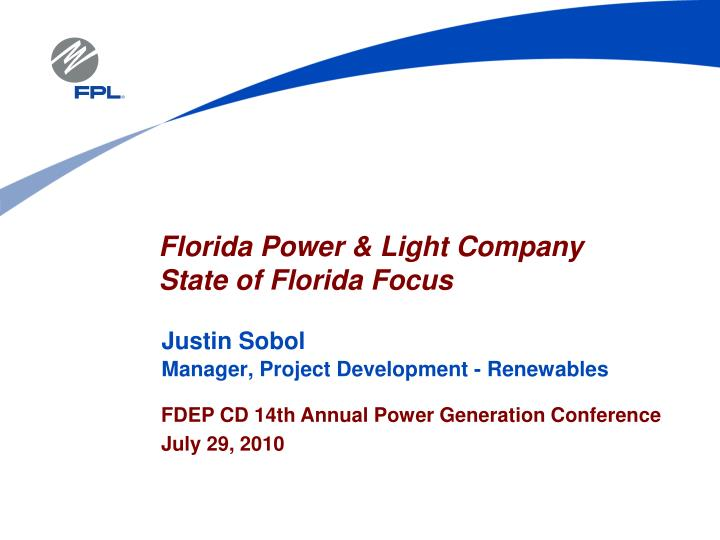 Justin sobol manager project development renewables