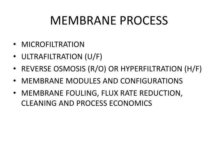 MEMBRANE PROCESS