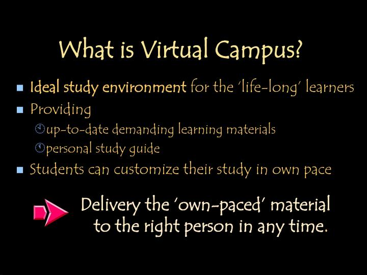 What is virtual campus