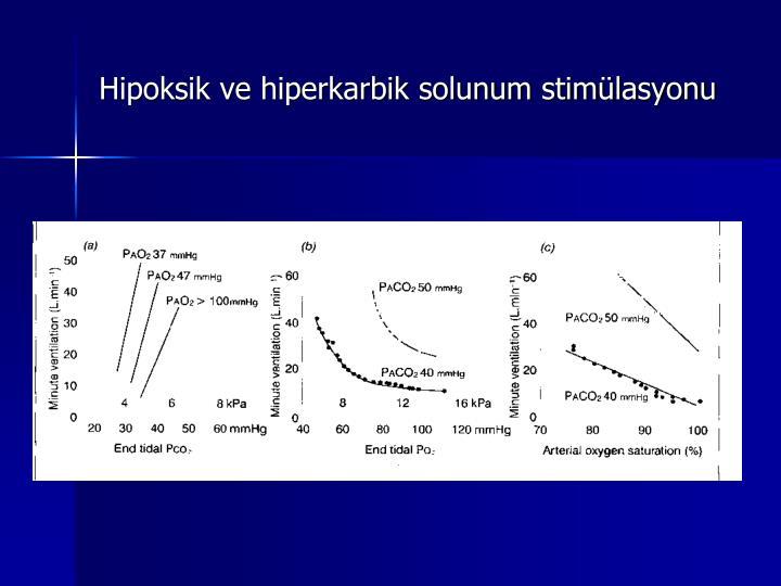 Hipoksik ve hiperkarbik solunum stimülasyonu