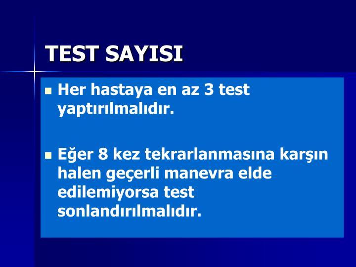 TEST SAYISI