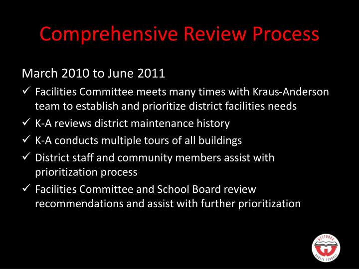 Comprehensive Review Process