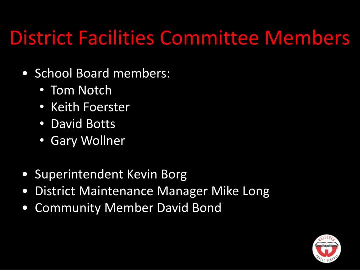 District Facilities Committee Members