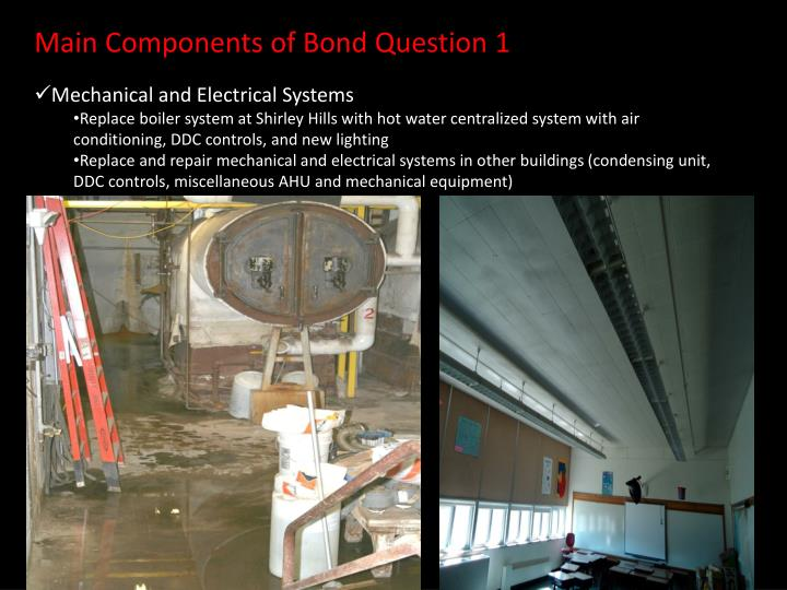 Main Components of Bond Question 1