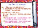 p value vs value