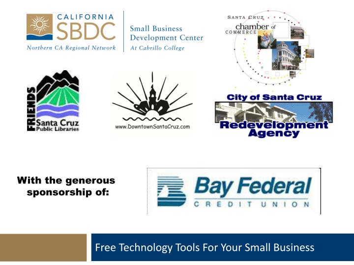 free technology tools for your small business n.