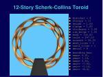 12 story scherk collins toroid