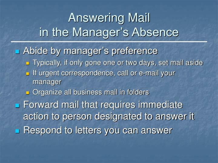 Answering Mail