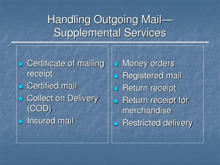 Certificate of mailing receipt