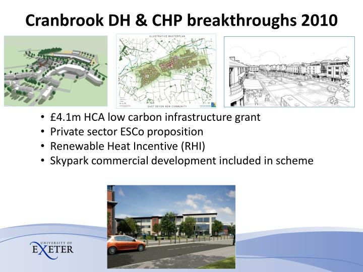 Cranbrook DH & CHP breakthroughs 2010