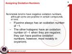 assigning oxidation numbers2