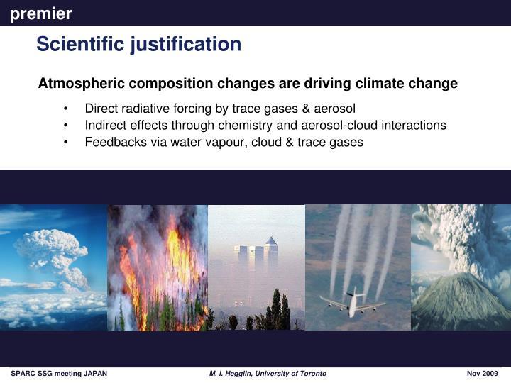 Scientific justification