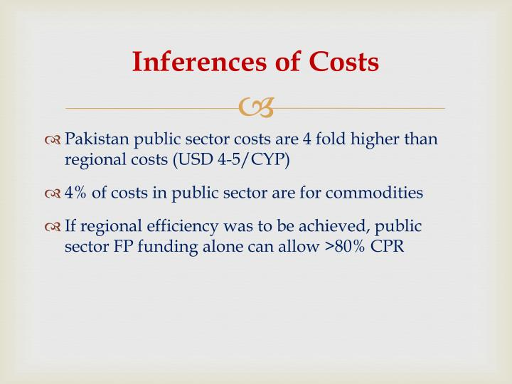 Inferences of Costs