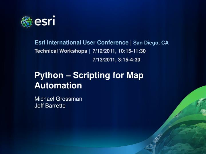 python scripting for map automation n.