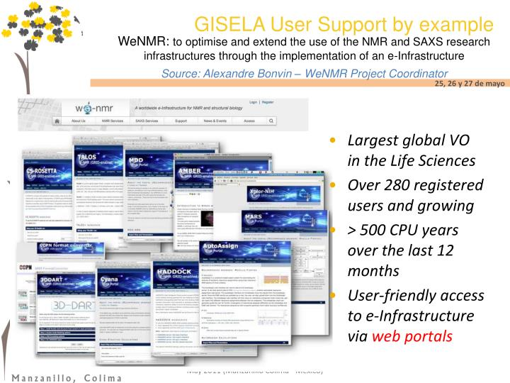 GISELA User Support by example