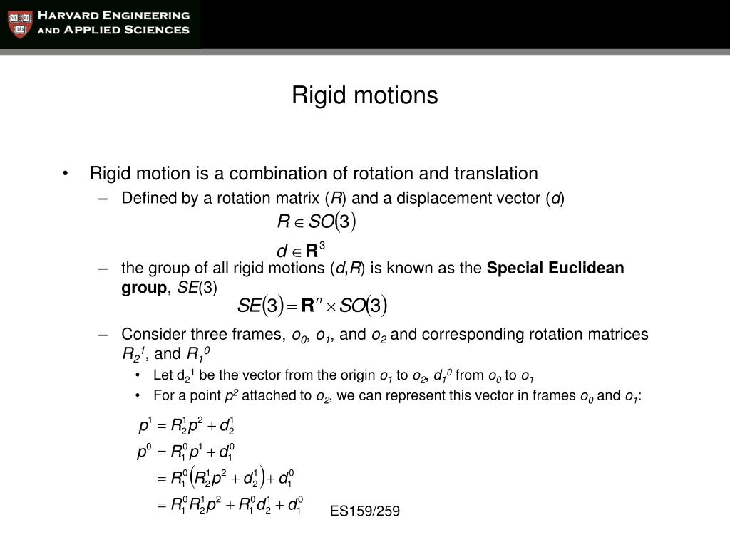 PPT - Ch  2: Rigid Body Motions and Homogeneous Transforms
