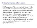 system administration procedures