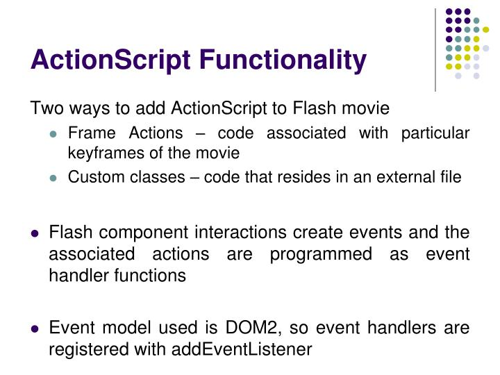 ActionScript Functionality