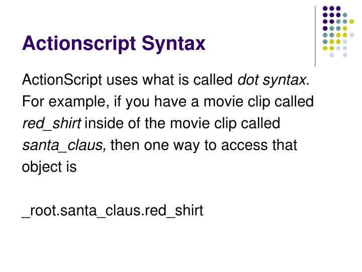 Actionscript Syntax