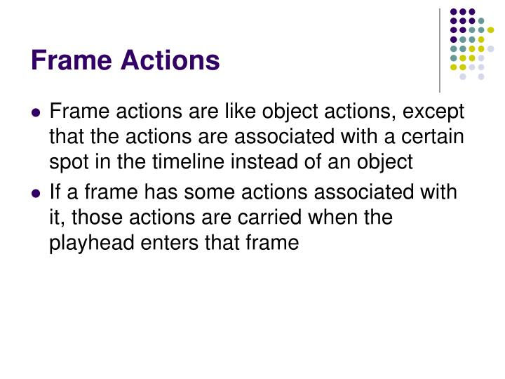 Frame Actions