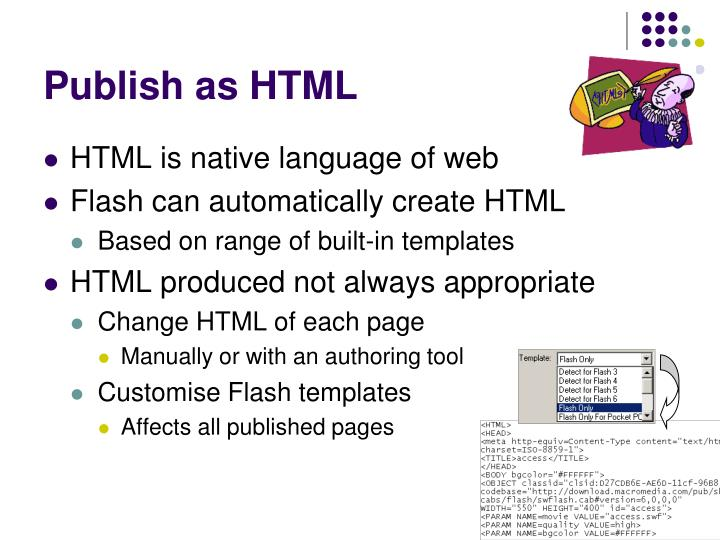 Publish as HTML