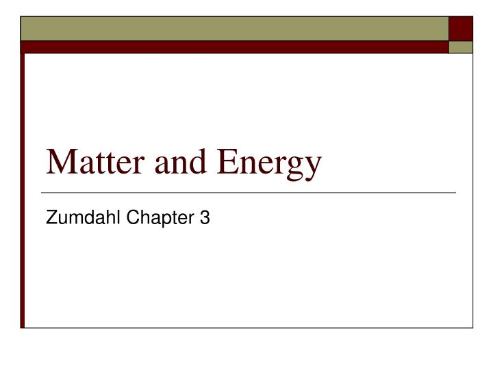 matter and energy n.