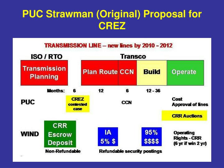 PUC Strawman (Original) Proposal for CREZ