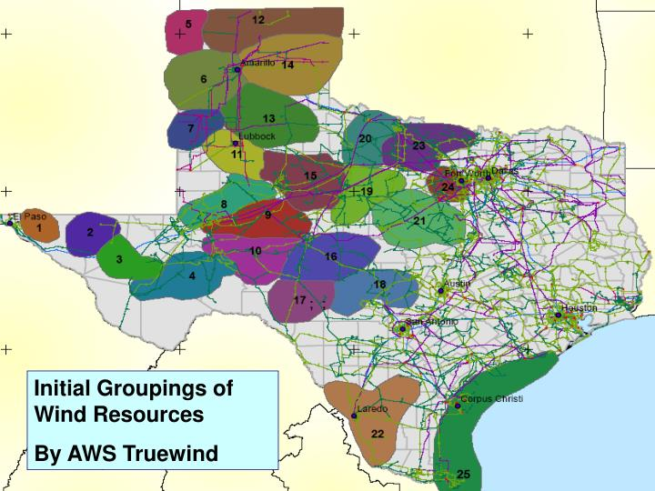 Initial Groupings of Wind Resources