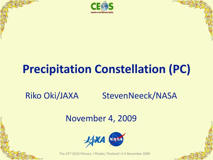 precipitation constellation pc n.