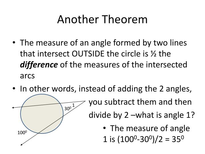 Another Theorem
